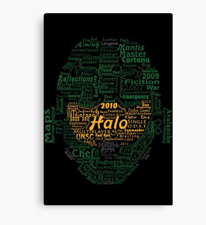 Master Chef Typographic Canvas Print