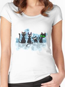 Kuro Cats Women's Fitted Scoop T-Shirt