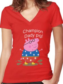 Champion Daddy  Women's Fitted V-Neck T-Shirt