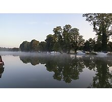 Golden hour river Thames at Pangbourne Photographic Print