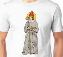 ST HUBERT OF LIEGE as BISHOP Unisex T-Shirt