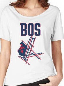 Boston Airport Women's Relaxed Fit T-Shirt