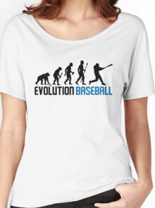 Baseball Evolution Of Man Women's Relaxed Fit T-Shirt