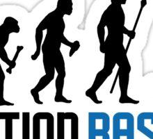 Baseball Evolution Of Man Sticker