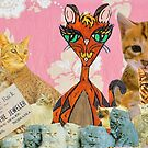 Cute Cat Collage 1 by kewzoo