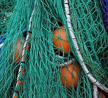 Fishermen's nets and buoys on Lyme Regis harbour by Photography by Mathilde