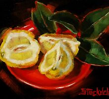 Bush Lemon Sliced by Margaret Stockdale