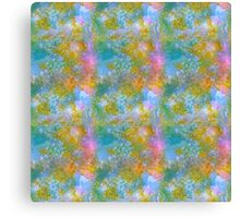 Pink and blue in my green. Canvas Print