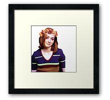 Willow Rosenberg - Flower Crown Framed Print
