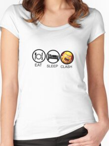 Eat Sleep Women's Fitted Scoop T-Shirt