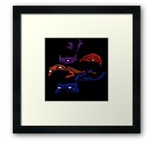 Turtles in a Half Shell Framed Print