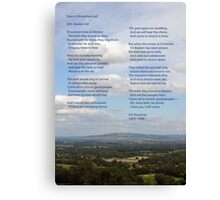 Bredon Hill - the view and the poem. Canvas Print