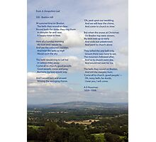 Bredon Hill - the view and the poem. Photographic Print