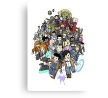 DOCTOR WHOZZAT? BLOCKY Canvas Print