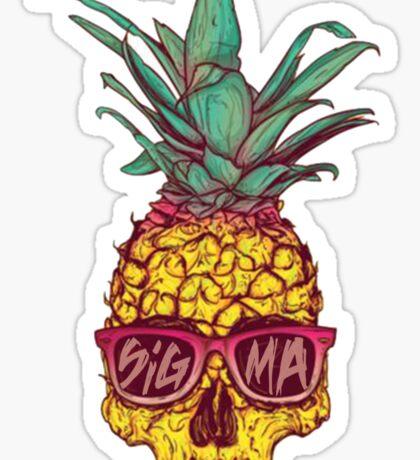 Tri Sigma Pineapple Skull Sticker