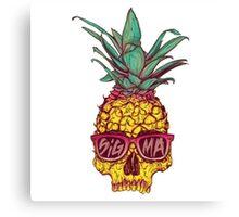 Tri Sigma Pineapple Skull Canvas Print
