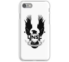 UNSC Infinite Gaming Space Command - Black iPhone Case/Skin