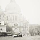 Santa Maria Della Salute in Venice, Italy B&W by prante