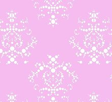 Venetian Damask, Ornaments, Swirls - Pink White by sitnica