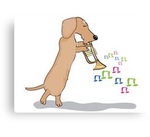 Musical Sausage Canvas Print