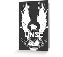UNSC Infinite Gaming Space Command - White Greeting Card