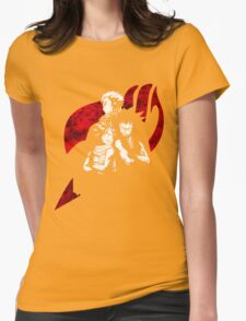 White Dragon Slayer Womens Fitted T-Shirt