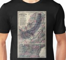 0331 Railroad Maps Maps showing the connections of the Northern and Southern West Virginia Railroad with the three grand trunk railways which unite the Atlantic seaboard Unisex T-Shirt