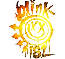 Blink 182 Yellow Fire Photographic Print
