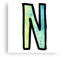 Letter N Canvas Print