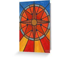 Mosaic Compass Greeting Card