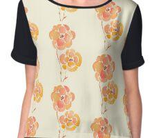 Peach Blossom Flowers Chiffon Top