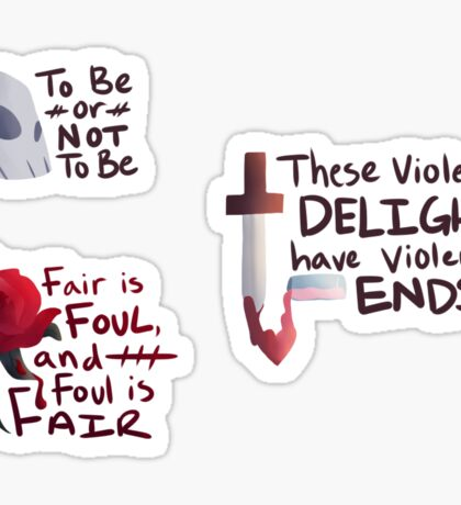 Shakespeare Quotes Stickers Sticker