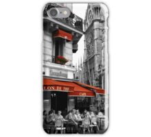 French Cafe at Notre Dame iPhone Case/Skin