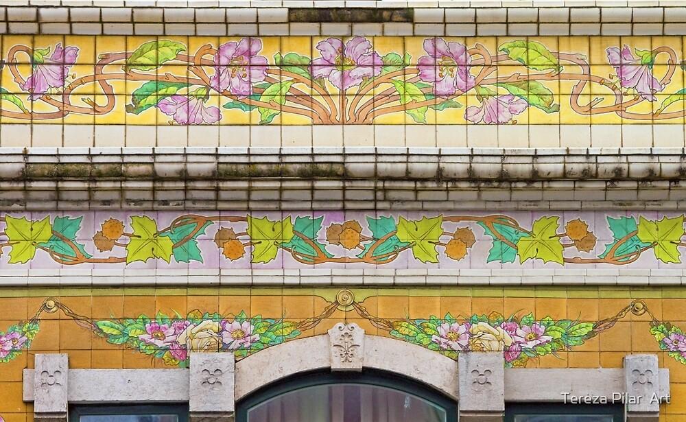 azulejos arte nova. 1911. art nouveau tiles . by terezadelpilar~ art & architecture