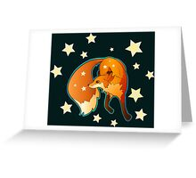 Fox Dancing in the Stars Greeting Card