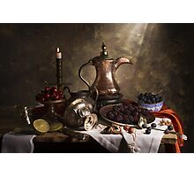 Still Life with Arabian Coffee Pot Photographic Print