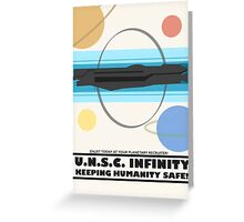 Minimalist Recruitment Poster for the U.N.S.C Infinity Greeting Card