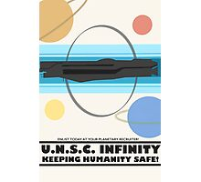 Minimalist Recruitment Poster for the U.N.S.C Infinity Photographic Print