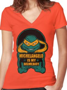 Mike is my Homeboy Women's Fitted V-Neck T-Shirt