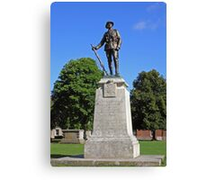 The King's Royal Rifle Corps Memorial, Winchester Cathedral Close, southern England. Canvas Print