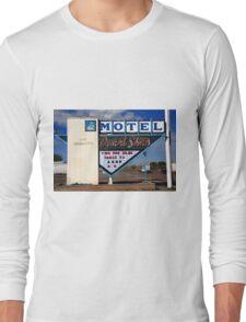Route 66 - Desert Skies Motel Long Sleeve T-Shirt