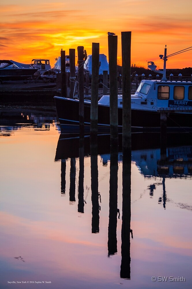 Marina's Reflections At Dawn | Sayville, New York by © Sophie W. Smith