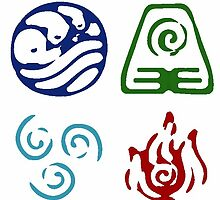 Avatar Element Symbols by lonelycubone