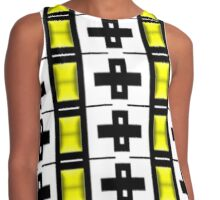 PATTERNATION|YELLOW CROSSES| RB EXCLUSIVE Contrast Tank