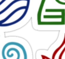 Avatar Element Symbols Sticker