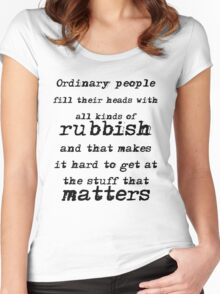 BBC Sherlock Ordinary People Women's Fitted Scoop T-Shirt