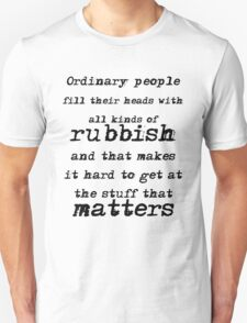 BBC Sherlock Ordinary People Unisex T-Shirt