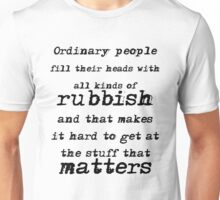 BBC Sherlock Ordinary People Unisex T-Shirt