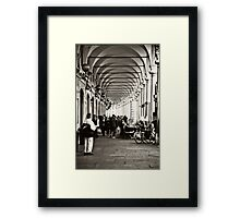 Arcades of Parma, Italy Framed Print