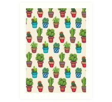 Cactus Pot Plant Garden Art Print